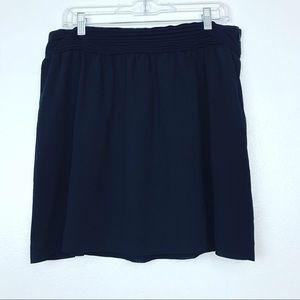 🧜🏻♀️LOFT Black Mini Skirt Pleated waist detail